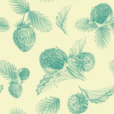 Seamless pattern with strawberries. Stock Photos