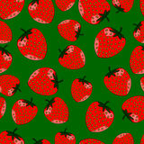 Seamless pattern of strawberries. Seamless pattern of red strawberries closeup with seeds stock illustration