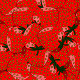 Seamless pattern of strawberries. Seamless pattern of red strawberries closeup with seeds Royalty Free Illustration