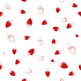 Seamless pattern of strawberries. Vector illustration Stock Images