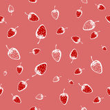 Seamless pattern of strawberries. Vector illustration Royalty Free Stock Photography