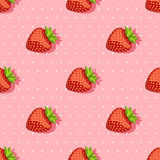 Seamless pattern with strawberries Royalty Free Stock Photography