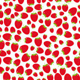 Seamless pattern with strawberries on the white background. Royalty Free Stock Image