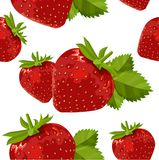 Seamless pattern with strawberry Royalty Free Stock Photos