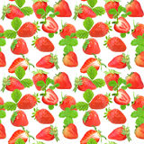 Seamless pattern of strawberry Stock Photos