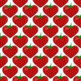 Seamless pattern with strawberry Stock Image