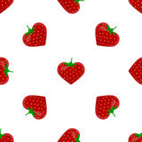 Seamless pattern with strawberry Stock Photo