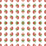 Seamless pattern, strawberry happy cheerful fancy decorative texture Royalty Free Stock Photos