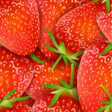 Seamless pattern with with strawberry and leaves Stock Photography