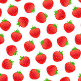 Seamless Pattern with Strawberry Royalty Free Stock Image