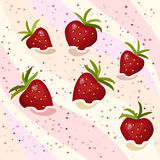 Seamless pattern strawberry mousse Royalty Free Stock Photo