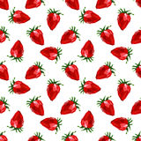 Seamless pattern strawberry. Polygon fruit. Vector Royalty Free Stock Images