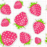Seamless pattern with strawberry. Vector. Seamless pattern with  strawberry. Vector illustration. This is file of EPS10 format Stock Photos