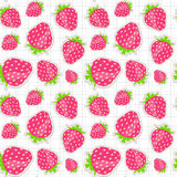Seamless pattern with strawberry. Vector Stock Photos