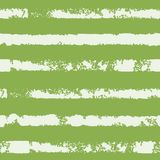 Seamless pattern with stripe. Forms printed in ink. Green, white color. Hand drawn. Vector illustration Royalty Free Stock Images