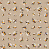 Seamless pattern with striped bees Royalty Free Stock Photography