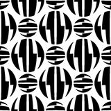 Seamless pattern of striped circles optical illusion Stock Images