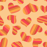 Seamless pattern striped hearts. Royalty Free Stock Photos