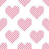 Seamless pattern with striped hearts. Valentine's Day background. Vector repeating print Stock Image