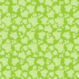 Seamless Pattern With Striped Ivy Leaves Stock Photography