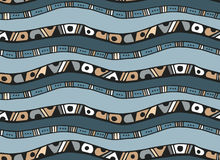 Seamless pattern with stripes in doodle style Stock Photography