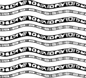 Seamless pattern with stripes in doodle style. Can be used as fabric print, wrapping paper, web page backdrop, wallpaper. Vector illustration Royalty Free Stock Images