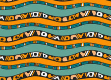 Seamless pattern with stripes in doodle style Royalty Free Stock Photography