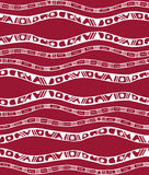 Seamless pattern with stripes in doodle style Stock Photos