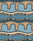 Seamless pattern with stripes in doodle style Royalty Free Stock Image