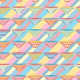 Seamless pattern with stripes and pants Stock Photography