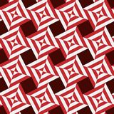 Seamless pattern. Stripes squares red and white background stock illustration