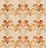 Seamless pattern. Strips of hearts. Stock Photos