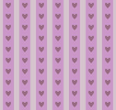 Seamless pattern of strips with hearts. Royalty Free Stock Images