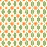 Seamless pattern with stripy ornament Stock Photography