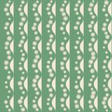 Seamless pattern with stripy ornament Stock Images
