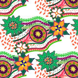 Seamless pattern in the style of boho Royalty Free Stock Image