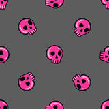 Seamless pattern in the style of emo skull Stock Image
