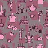 Seamless pattern in the style of a festive table vector illustration