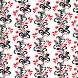 Seamless pattern in style Khokhloma Stock Photos