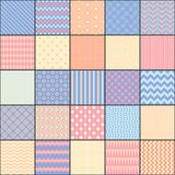 Seamless pattern in style of patchwork, vector. Royalty Free Stock Image