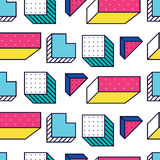 Seamless pattern in 90 80 style Royalty Free Stock Photos