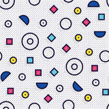 Seamless pattern in 90 80 style Royalty Free Stock Photography