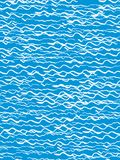 Seamless pattern in the style of the sketch. White waves on a blue background. Hand drawing ink. Modern minimalism. Vector illustr Royalty Free Stock Photos