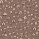 Seamless pattern style skulls faces vector illustration halloween horror style tattoo anatomy art. Stock Images