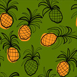 Seamless pattern with stylised pineapples  Stock Photo
