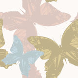 Seamless Pattern with stylish butterfly's Royalty Free Stock Image