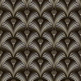 Seamless pattern with stylish elements Vector monochrome texture Stock Photography