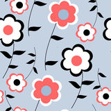 Seamless pattern of stylish flowers Royalty Free Stock Photo