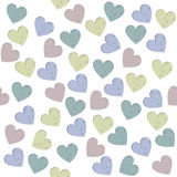 Seamless pattern with stylish hearts. Seamless pattern with hearts on Valentine's day Royalty Free Stock Photography