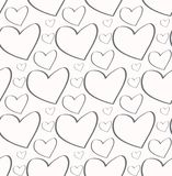 Seamless pattern. Stylish print with hand drawn. Seamless pattern. Casual polka dot texture. Stylish print with hand drawn hearts Royalty Free Stock Photography